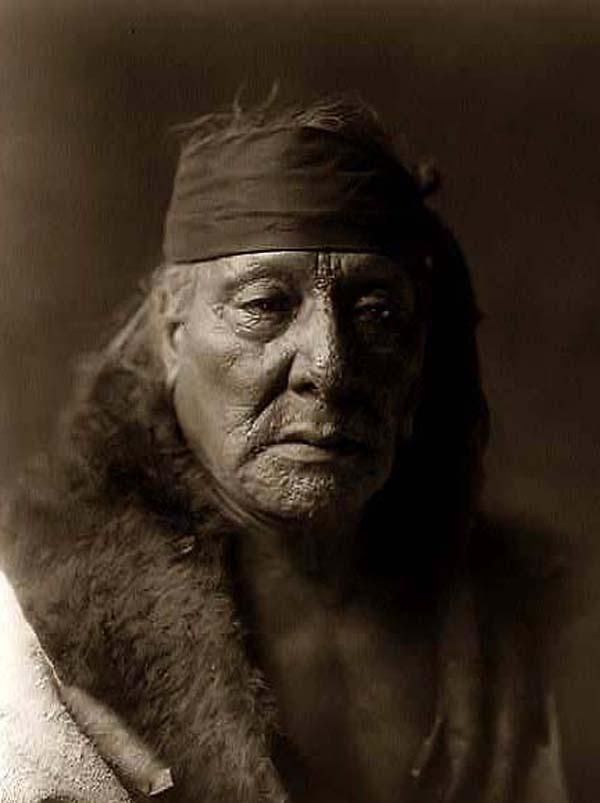 You are viewing an unusual image of Bears Teeth, an Indian Man. It was taken in 1908 by Edward S. Curtis.  The image shows Bears Teeth, head-and-shoulders portrait, facing front, wearing headband.  We have created this collection of images primarily to serve as an easy to access educational tool. Contact curator@old-picture.com.  Image ID# 1B3462C7