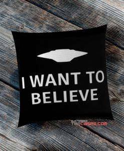 Black i Want To believe pillow case, Custom Pillow case, Square Rectangle pillows case