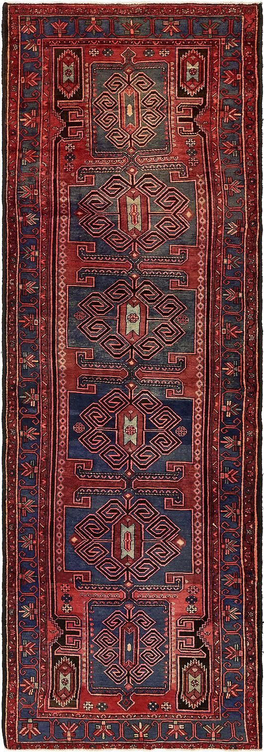 Red 4 9 X 14 2 Khamseh Persian Runner Rug Rugs
