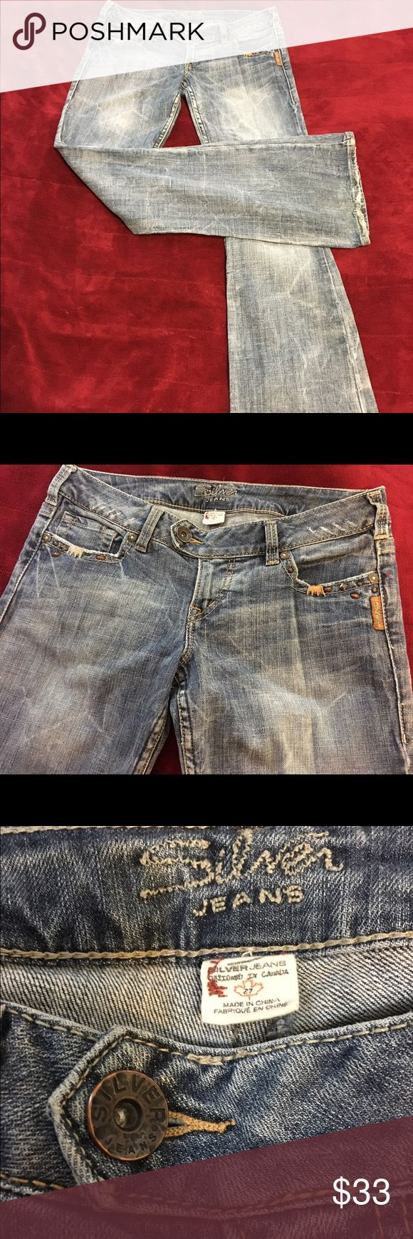 Women's Silver Jeans 👖 Tuesday Flap.. Size 27/31 Adorable jeans 👖 with gorgeous detail throughout. Silver Jeans Jeans Flare & Wide Leg
