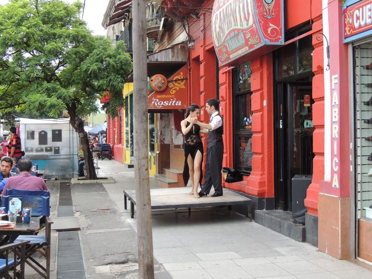 Tango In The Streets - when walking around the old town section of Buenos Aires it is common to see couples doing Tango demonstrations.