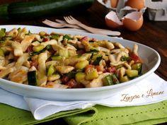 Pollo alla carbonara con zucchine