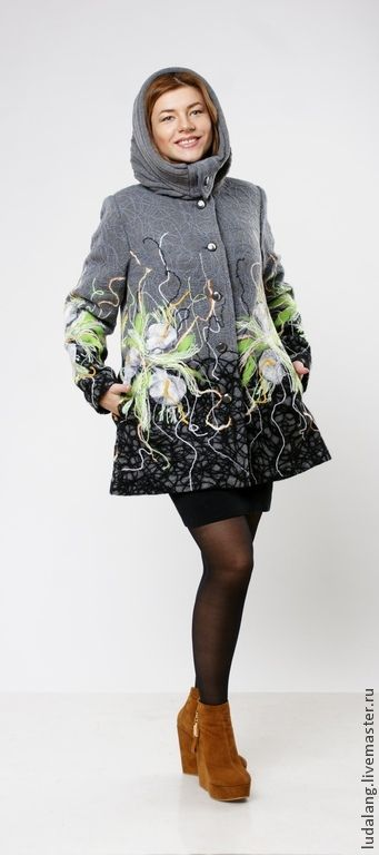 """Купить Полупальто """"Ранняя весна"""" - весна 2015, серый, Весеннее пальто, весенняя мода 2015"""