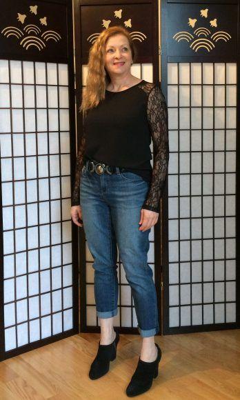 Look du jour – Jeans Boyfriend – La P'tite Madame