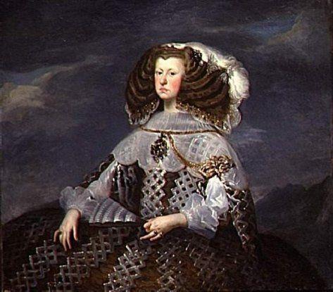 1660-Portrait of Mariana of Austria by Diego Velazquez ...