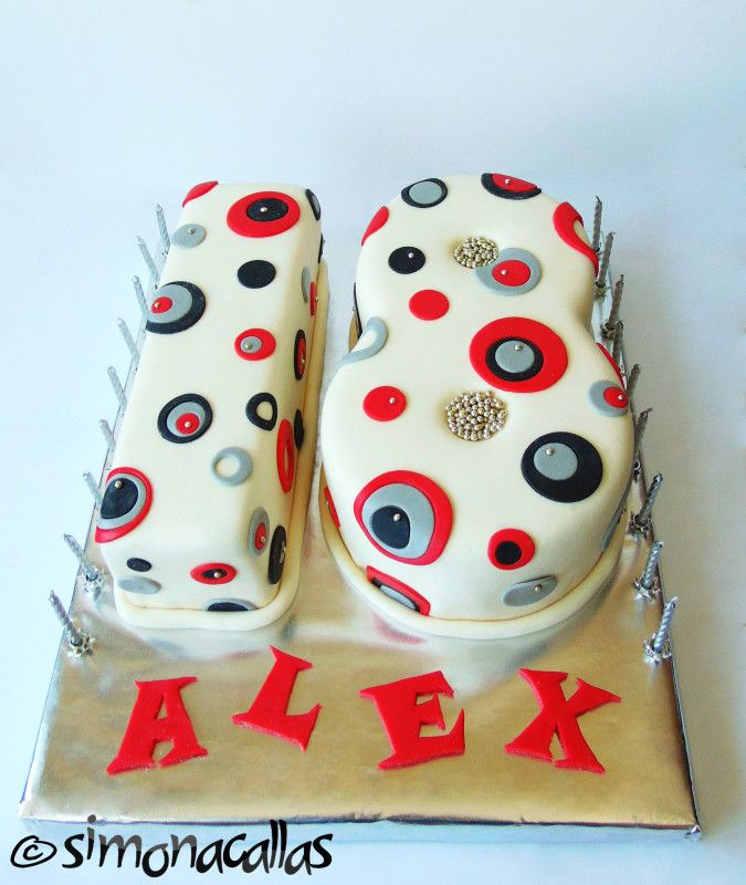 """Number """"18"""" Shaped Cake by simonacallas"""