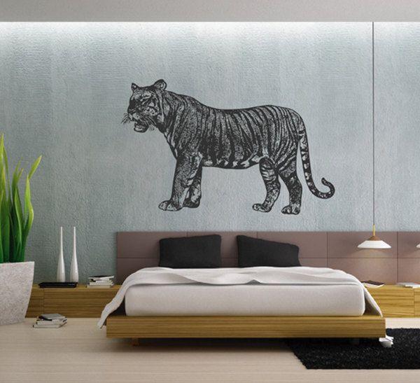kik2431 Wall Decal Sticker Animals tiger big cat bedroom Living