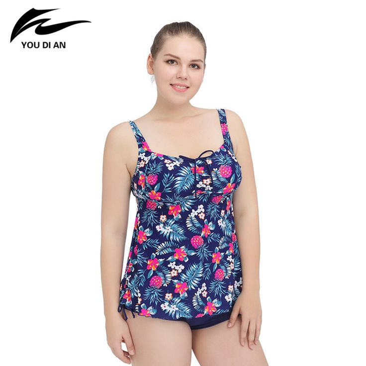 New One Piece Swimsuit  Plus Size Swimwear Women Floral Bathing Suits Large Size Tankini Swimming Suit Beach Dress #Affiliate