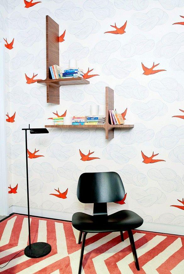 Daydream (Orange) in a super cool kids room via Domaine Home