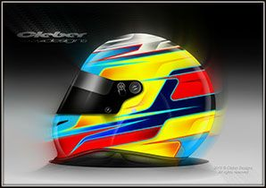 Custom helmets for racing car drivers