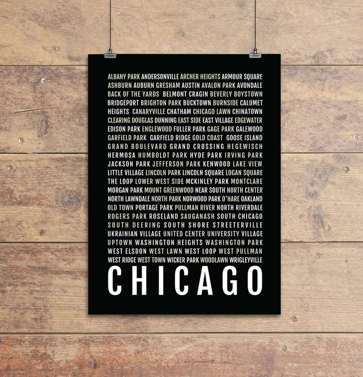 Chicago Print - Neighborhoods - Subway Sign Poster, Wall Art, Décor, Canvas, Word Map, Gift, Bus Scroll, Typography, Minimal, Custom, Personalized. Show your local spirit with this Chicago - Subway Sign. - Modern, clean, colorful design - Made to Order, printed just for you! - Looks great in a dorm, apartment, nursery, or office - Perfect gift for a housewarming gift or to update your style - Printed on heavyweight paper stock (Epson Enhance Matte) - All prints are rolled in a sturdy...