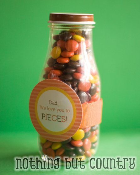 """For Dad's and Grandpa's- """"Love you to pieces!"""" w/ free printable labels"""