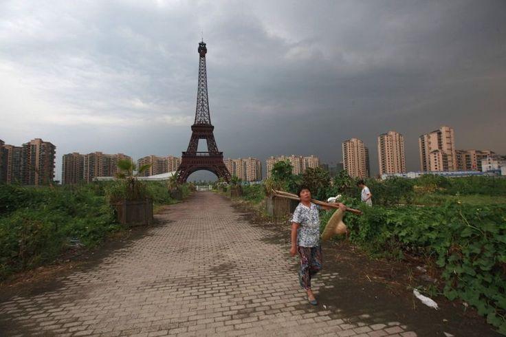 Tianducheng, Paris in China, in Hangzhou.