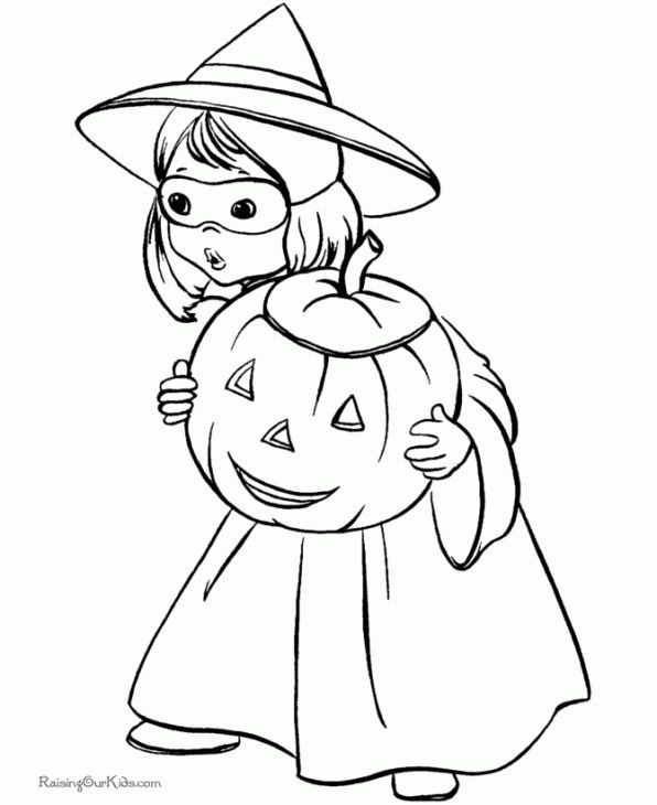 little girl dressed as a witch coloring page girl halloween costumeshalloween witchescoloring pages for