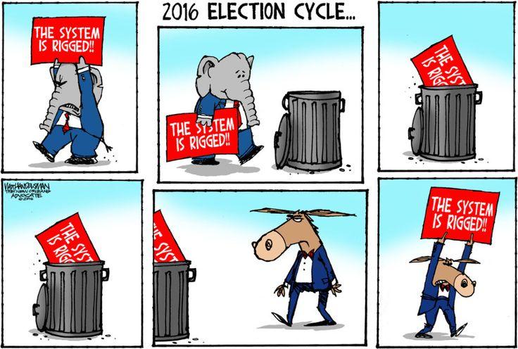 Editorial cartoon by Walt Handelsman found on theweek.com on Monday, November 14, 2016