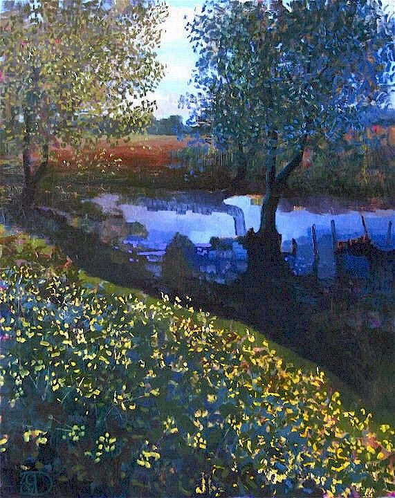 Little Creek Original Oil by Ton Dubbeldam