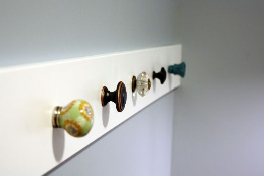 Installing Knob Wall Hooks (I Heart Organizing) I FOUND SOME KNOBS ON CLEARANCE AT PIER ONE IMPORTS! WOOHOO!!!