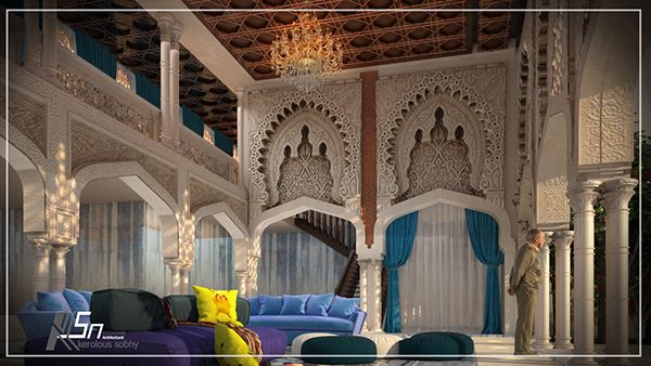 Arabic design 3dsmax vray photoshop  my page KSN Architectural like and share