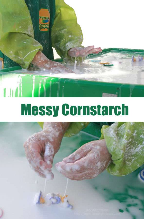 Messy Cornstarch Perfect for All Ages (Yes Baby too!)