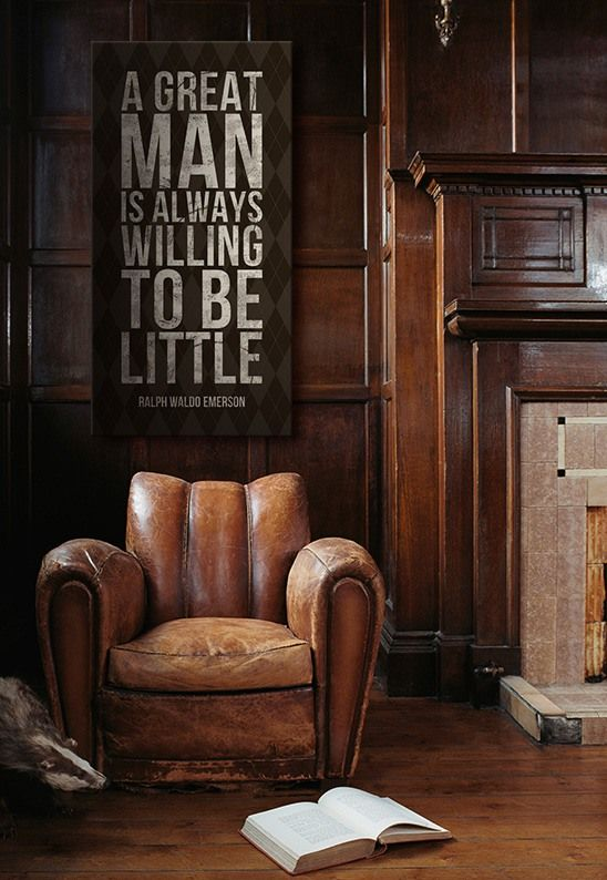 Lovely inspiring quote from Ralph Waldo Emerson. Also, I want that chair.