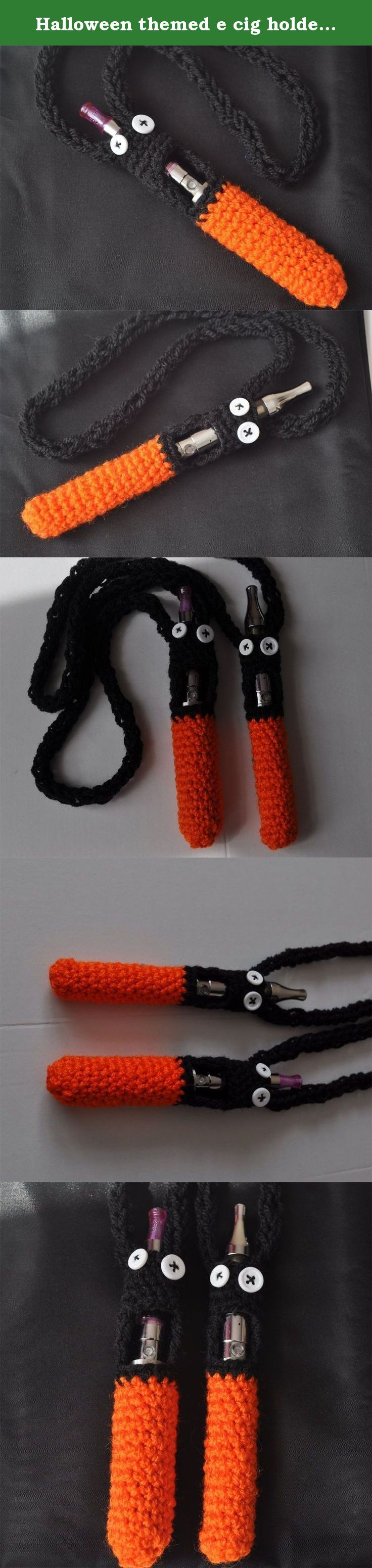 Halloween themed e cig holders, neck sling, vape cover in orange and black, electronic cigarette case. These are Halloween themed e cig case / holders in orange and black with buttons sewn in as eyes. You can celebrate halloween with these scared looking creatures! This is great to use for your electronic cigarette or vaporiser pen. This neck sling is easy to throw over your head and go. The lanyard also makes it easy to find your vape pen in your bag or purse. This vape cover would also…