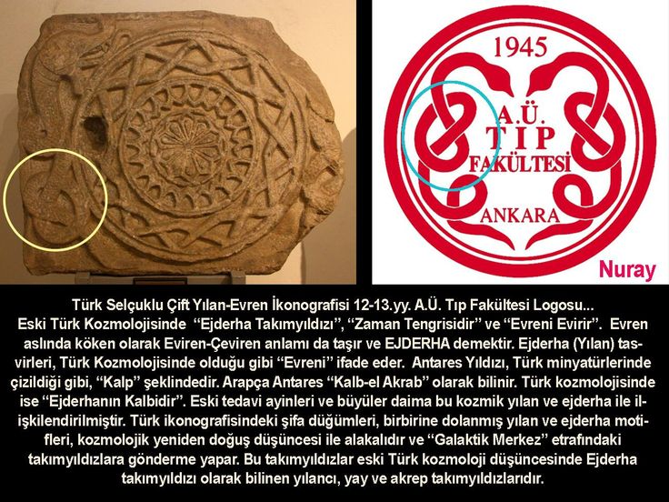 Türk Kozmolojisi ve Ankara Üniversitesi Tıp Fakültesi Logosu