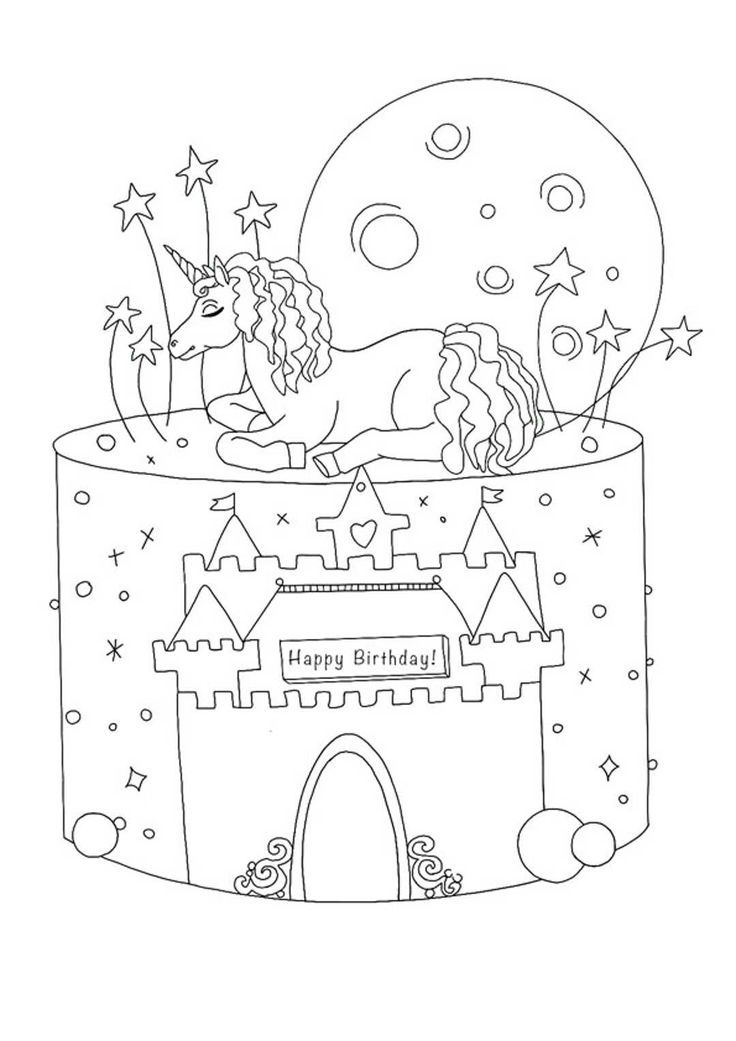 Unicorn Birthday Coloring Pages | Birthday coloring pages ...