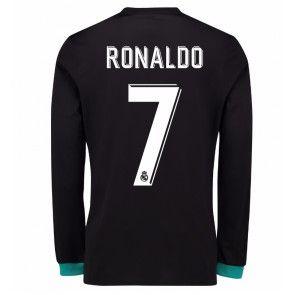 Real Madrid Cristiano Ronaldo 7 Venkovní Dres 17-18 Dlouhý Rukáv