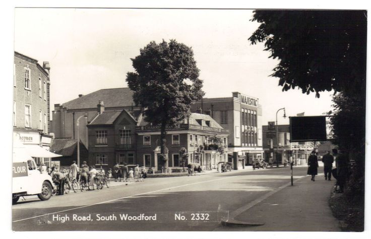 Majestic Cinema & High Road South Woodford 1965 RPPC Redbridge London was Essex