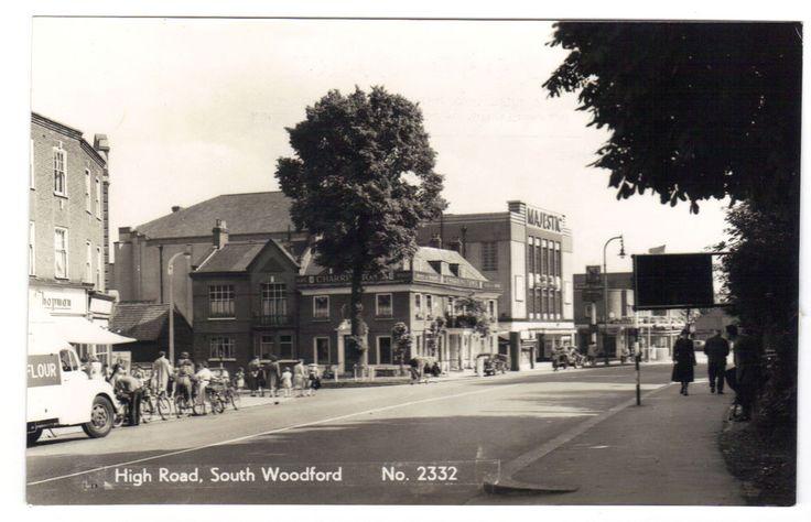 Majestic Cinema & High Road South Woodford 1965 RPPC Redbridge London was Essex