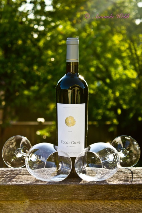 Delicious wine from the beautiful new PoplarGrove winery in the #Okanagan, #Canada.