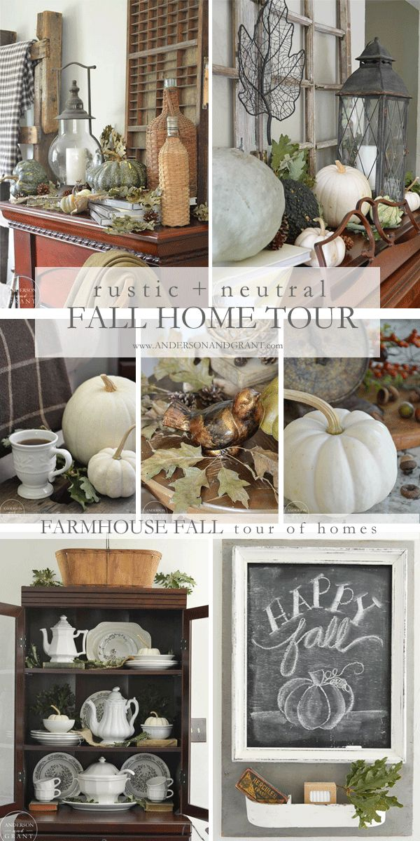 Learn how to create a beautiful rustic farmhouse style home this fall with tips…