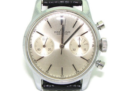 Vintage Stainless Steel Breitling Chronograph 1191 Manual Wind Watch 188 - circa 1950
