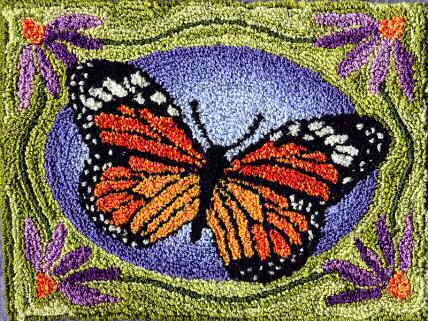 punch needle monarch butterfly