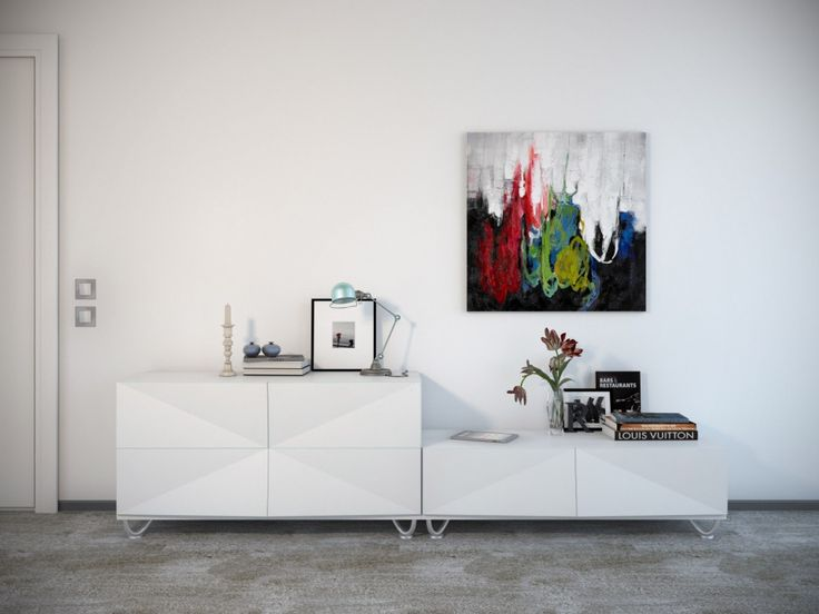 Decorations : Abstract Photos Decor In The Wall Blend White Furnish With White Chest Of Drawer Also Picture Frame And Vase Besides Grey Rug Floor Artwork A Bold Statement Of One's Character Instead Of Kitchen. Room Decoration Games Online 2013. Single Sofa And Cushions Decorate Living Room.