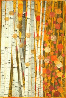 quilt - Aspen Grove quilt with full and detail views