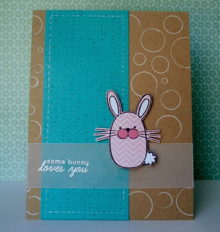 Clean and Simple Easter card PTI Hippity Hoppity