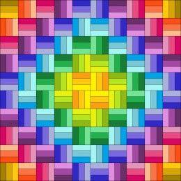 Easy rectangle quilt patterns -- pinwheels, herringbone, bricks, spirals, tri-color blocks. Simple rectangle patterns for quilting with same size blocks arranged into unique and interesting designs.
