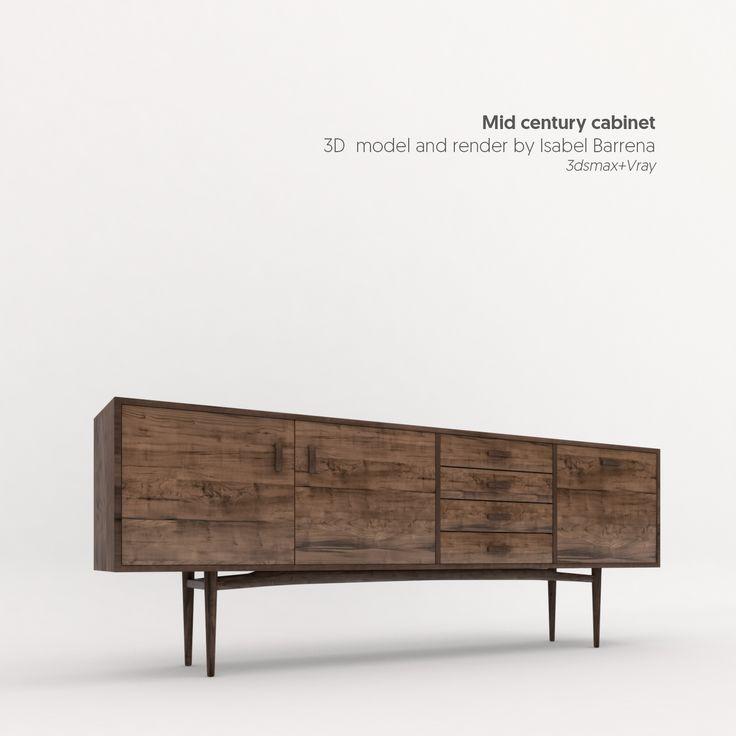 Mid century cabinet. #cg #cgartist #render #architecture #design #3ds #vray #midcentury #cgi #barcelona #3d #3dmodel #3ddesign #renderoftheday #diseño #designer #renderoftheday #rendering #3dviz #architecturelovers #archilovers #architecturaldesign #designvisual #vscocam #instadesign #furniture #makeraddictz