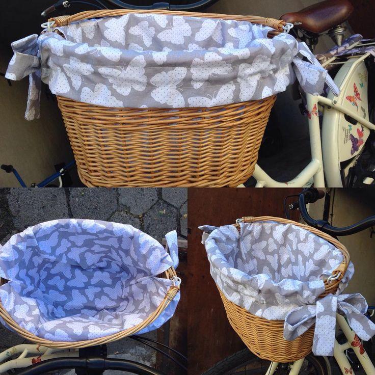 Dumna 😄 Debiut krawiecki za mną, a efektem jest nowa wkładka do koszyka rowerowego 😊 #niezchinzpasji #instacraft #rower #koszyk…