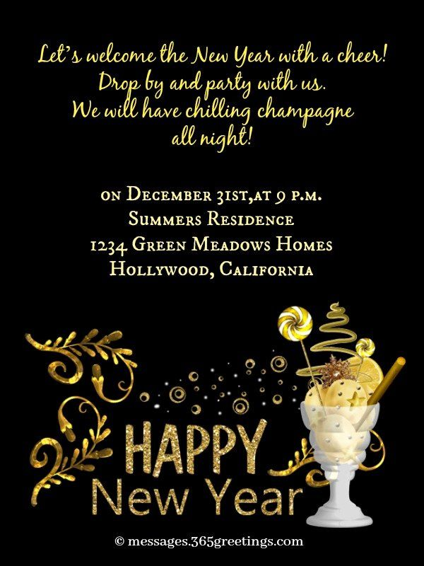 New Year Party Invitation Template Unique New Year Party Invitation Wording 365greetings New Years Eve Invitations Party Invite Template Party Invitations