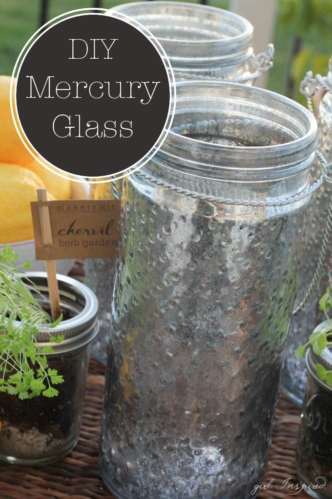 DIY Mercury Glass Jars from Joann.com