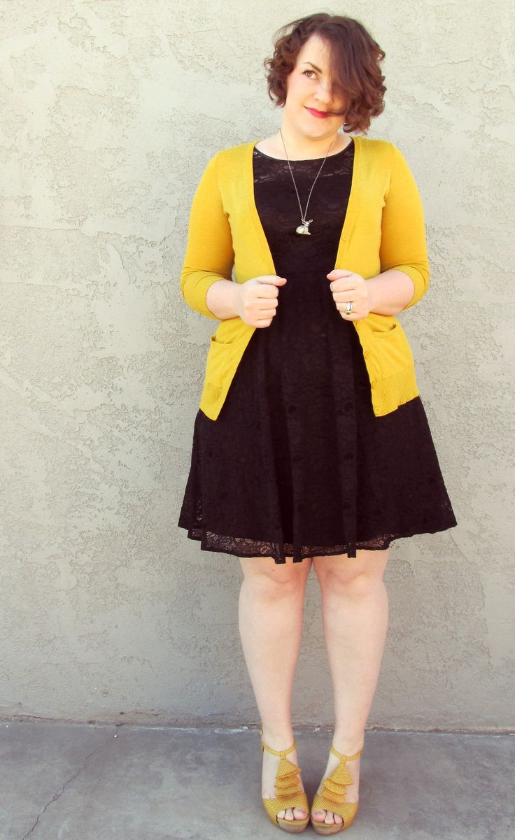 FUCK YEAH CHUBBY FASHION!: aprettycatastrophe: Black and yellow.  This is... AMAZING!