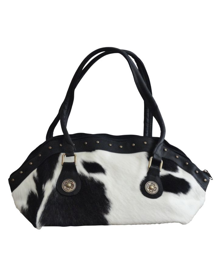 Cowhide handbag koeienhuid handtas