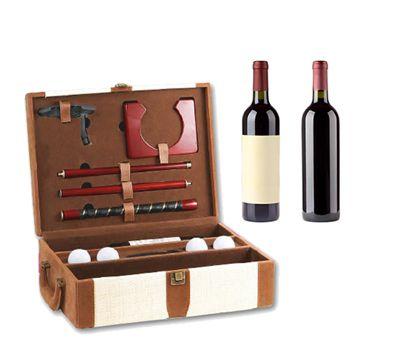 coffret pour bouteille de vin avec accessoires de golf 26 90 id es cadeau pinterest. Black Bedroom Furniture Sets. Home Design Ideas