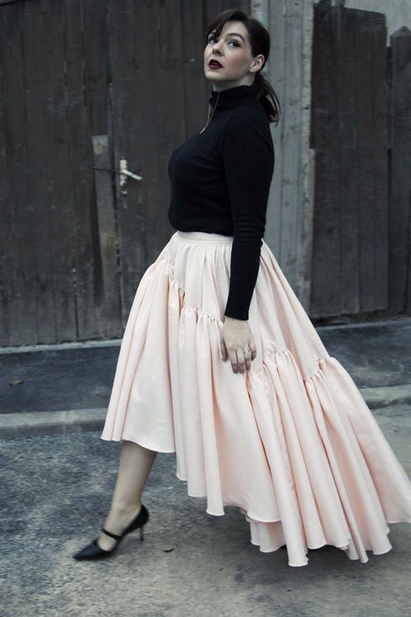 wedding dress turned into a skirt