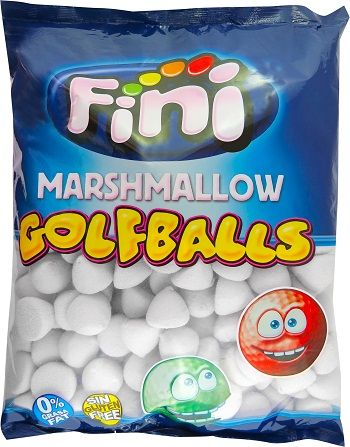 A bulk bag of Fini Marshmallow Golf Balls White.