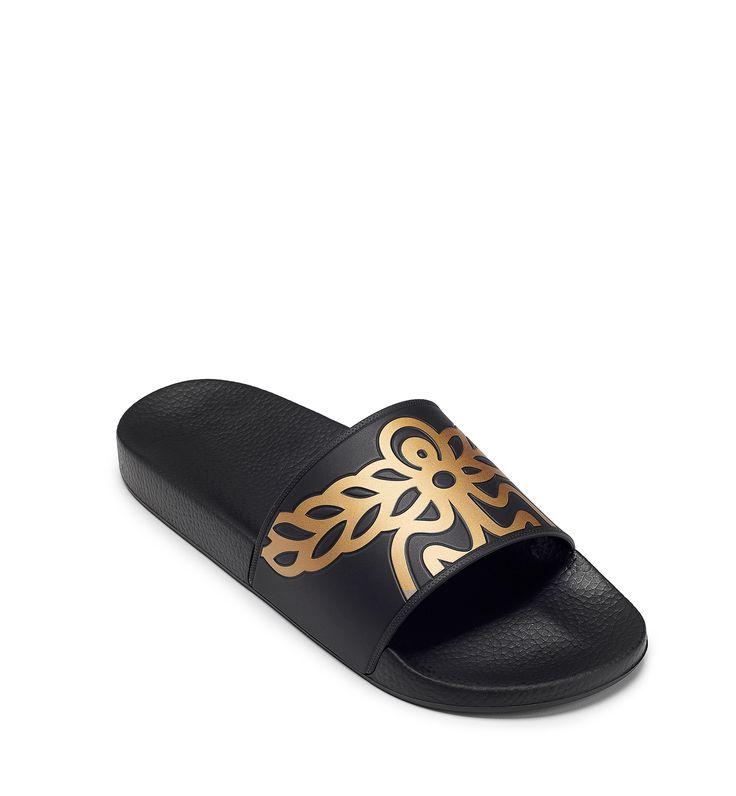 MCM MEN'S RUBBER SLIDES. #mcm #shoes #