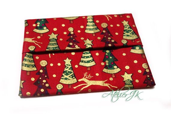 This is a tissue case, but great for gift card holder, too. Beautiful Christmas pattern!
