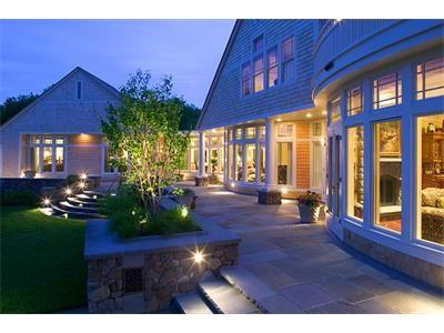 Incredible outdoor lighting on this Jamestown, RI home!